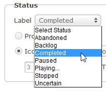 select status label